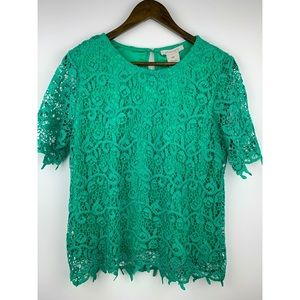 Philosophy green lace blouse!